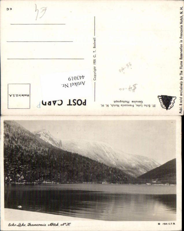 443019,New Hampshire Franconia Notch Echo Lake See Bergkulisse