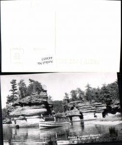 443037,Wisconsin Lower Dells Rocky Island Region Felsen Boot Josephine