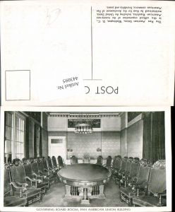 443095,Washington D.C. Pan American Union Building Governing Board Room Innenansicht