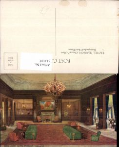 443103,Künstler AK Illinois Chicago Hotel Pearson Main Lobby Innenansicht
