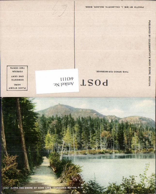 443111,New Hampshire Franconia Notch Shore of Echo Lake See Wegpartie