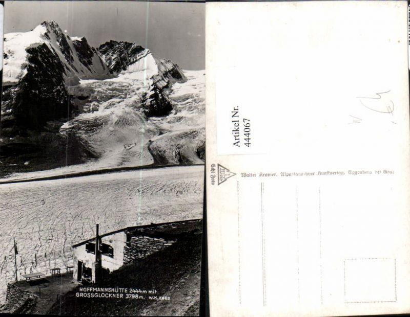 444067,Hoffmannshütte b. Heiligenblut m. Großglockner Bergkulisse