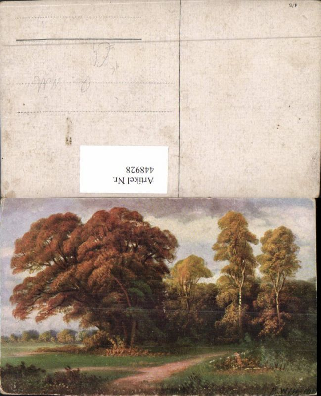 448928,Künstler AK R. Witt Landschaft Wald