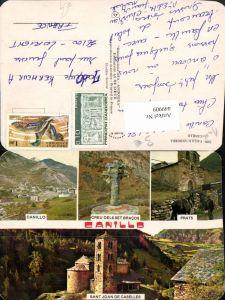 449909,Andorra Canillo Totale Kirche Creu Kreuz Prats Pferd Mehrbildkarte