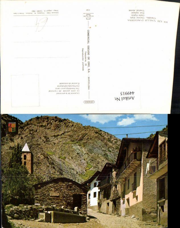 449915,Andorra Canillo Carrer tipic Gasse Brunnen