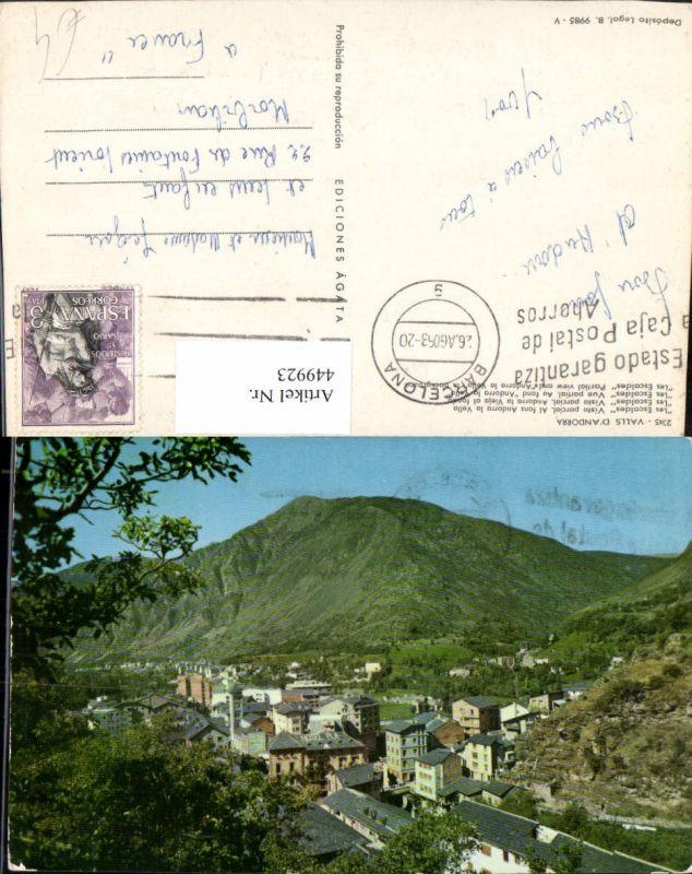 449923,Andorra Les Escaldes Vista parcial Teilansicht Bergkulisse