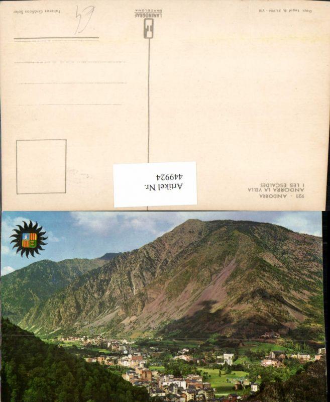 449924,Andorra La Vella Les Escaldes Totale Bergkulisse
