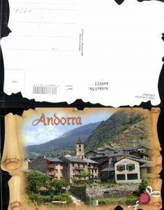 449925,Andorra Ordino Teilansicht Passepartout Schriftrolle