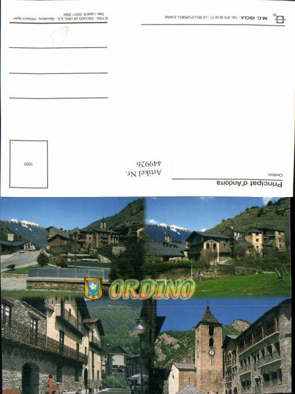 449926,Andorra Ordino Teilansichten Kirche Mehrbildkarte