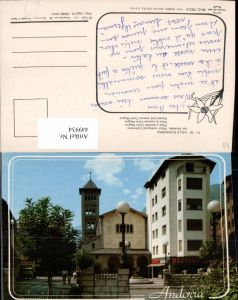 449934,Andorra Les Escaldes Placa i avinguda Carlemany Platz Kirche