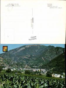 449935,Andorra Les Escaldes Vista general Totale Bergkulisse