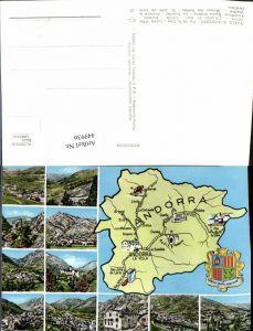 449936,Andorra Pas de la Casa Landkarte Ansichten Mehrbildkarte