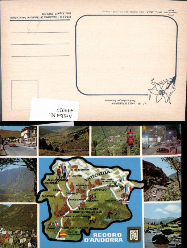 449937,Andorra Landkarte Ansichten Seilbahn Kirche Mehrbildkarte
