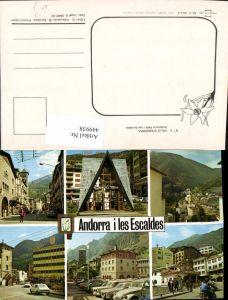 449938,Andorra Les Escaldes Totale Straßenansicht Mehrbildkarte