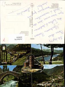 449939,Andorra Arinsal Les Escaldes Totale Kirche See Brücke Mehrbildkarte