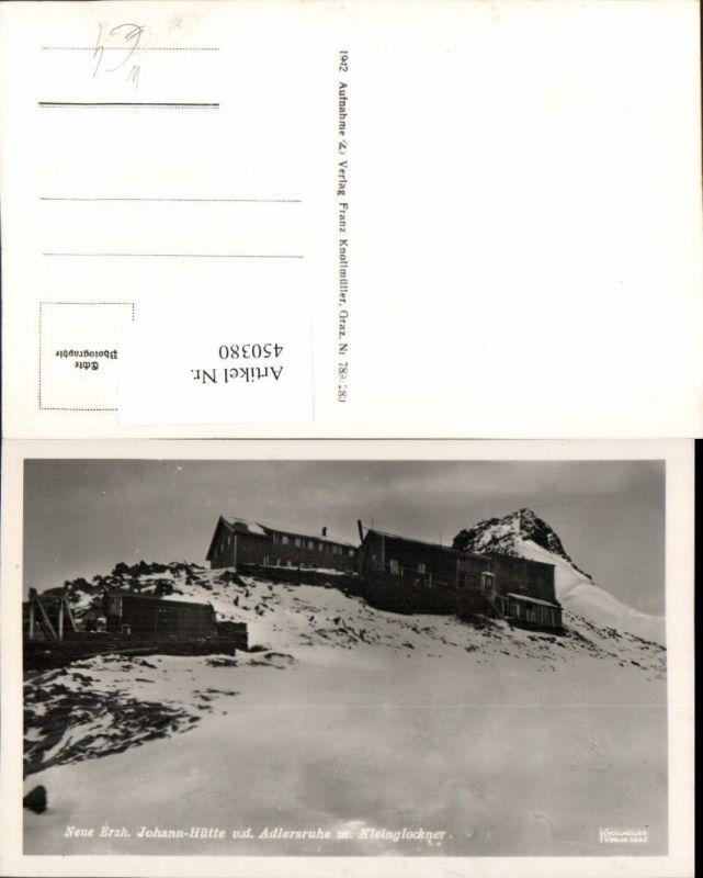 450380,Erzherzog-Johann-Hütte Berghütte b. Kals von d. Adlersruhe