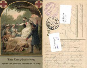 453137,Künstler Ak WW1 A. v. Roessler Rotes Kreuz Krankenpflege im Kriege Sammlung