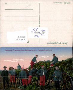 453152,WW1 POW Kriegsgefangene Franzosen b. Rübenverladen