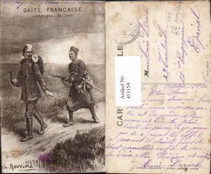 453154,Künstler Ak Ch. Rouviere WW1 POW Kriegsgefangene Gaite Francaise