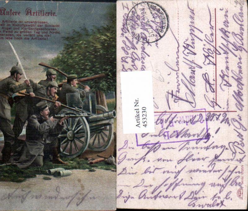 453230,WW1 Soldaten Waffen Unsere Artillerie Patriotik Propaganda
