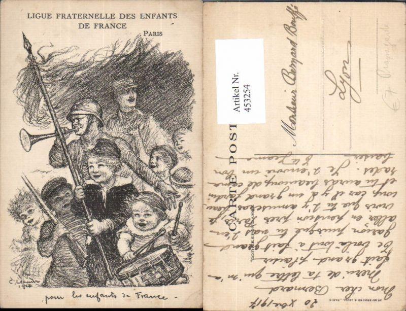 453254,Künstler Ak WW1 Ligue Fraternelle des Enfants de France Patriotik Propaganda