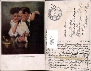 450725,M. Munk Vienne 833 Künstler Clarence F. Underwood Liebe Paar Plan