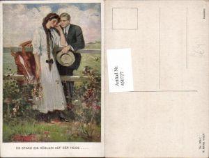 450727,M. Munk Vienne 834C Künstler Clarence F. Underwood Liebe Paar Zopf Pferd