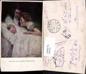 450732,M. Munk Vienne 742F Künstler Clarence F. Underwood Familie Kind Bett