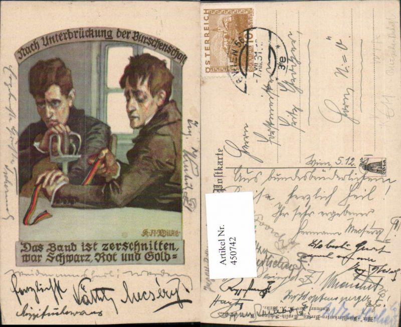 450742,WIA Verlag Teplitz-Schönau 67 Künstler K.A. Wilke Unterbrückung Burschenschaft