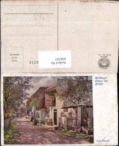 450747,Deutscher Schulverein 977 Künstler Hans Götzinger Mittagssonne im Dorf
