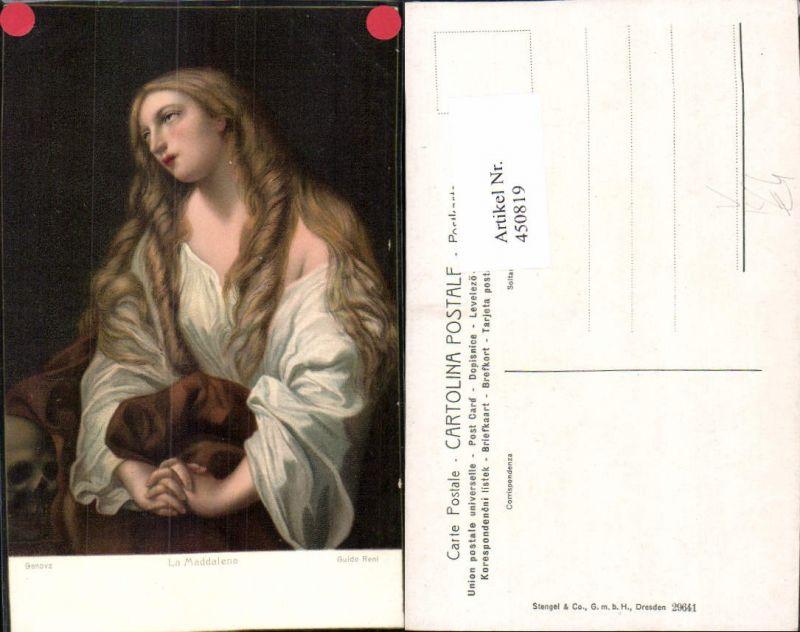 450819,Stengel Co 29641 Künstler Guido Reni La Maddalena Frau Gebet