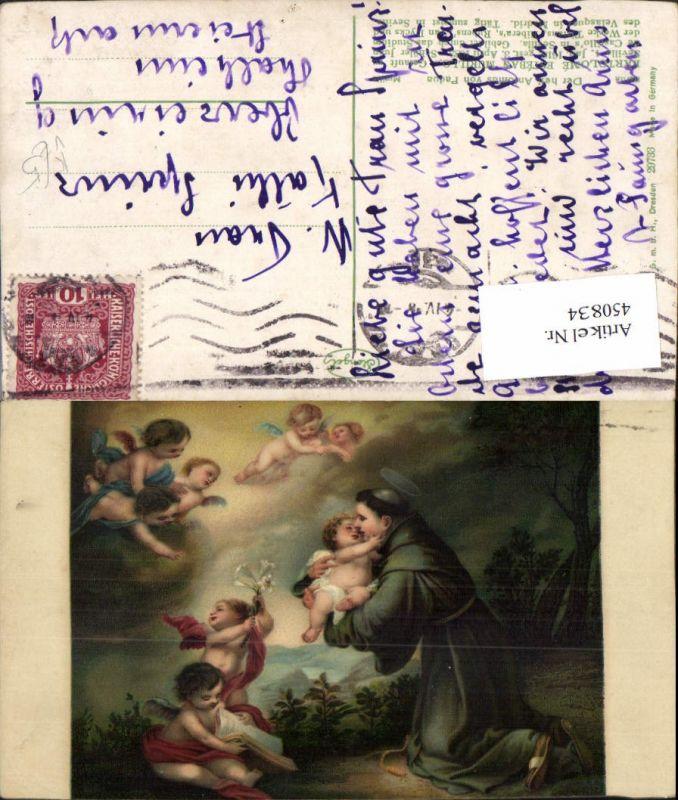 450834,Stengel Co 29733 Künstler Esteban Murillo Hl. Antonius von Padua Engeln