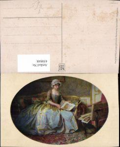 450848,Meissner & Buch 2528 Künstlerkarte Frau m. Kleid Sofa Bilder