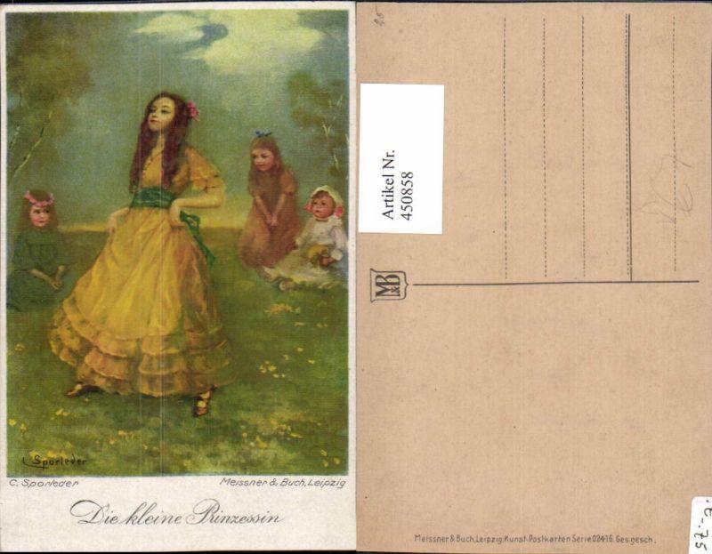 450858,Meissner & Buch 02416 Künstler C. Sporleder Kleine Prinzessin Mädchen