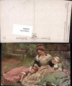450899,Primus AK 3075 Künstler Dr. Seeger Ruhepause Mutter m. Kinder Kleider
