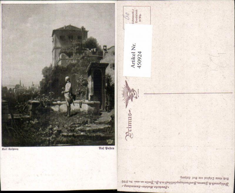 450924,Primus AK 3198 Künstler Karl Spitzweg Auf Posten Wache Soldat