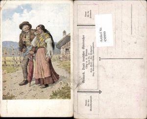 450999,Bund Deutscher Österreicher 47 Künstler Alois Greil Kirchgang Pfeife Schirm