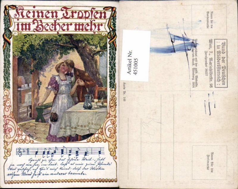 451005,Bund d. Deutschen in NÖ 148 Künstler Ezel Liebe Paar Kuss Liedzeile