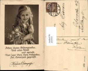 451914,Ostern Mädchen Palmkätzchen Kätzchen Küken Spruch pub HWB 5264