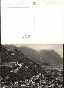 452296,Liechtenstein Vaduz Totale Fliegeraufnahme Bergkulisse