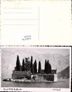 452336,Montenegro Perast Otok Sveti Dorde Insel Kirche Bergkulisse