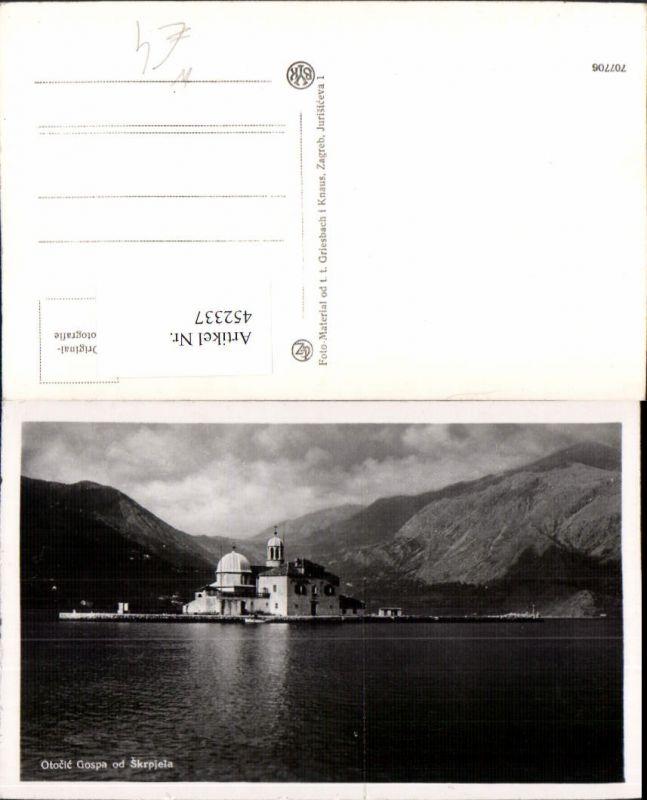 452337,Montenegro Otocic Gospa od Skrpjela Kirche Bergkulisse