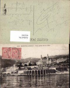 452343,Monaco Monte-Carlo Vue prise de la Mer Teilansicht