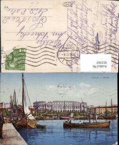 452503,Croatia Pola Pula Arena Hafen Segelboote Boote