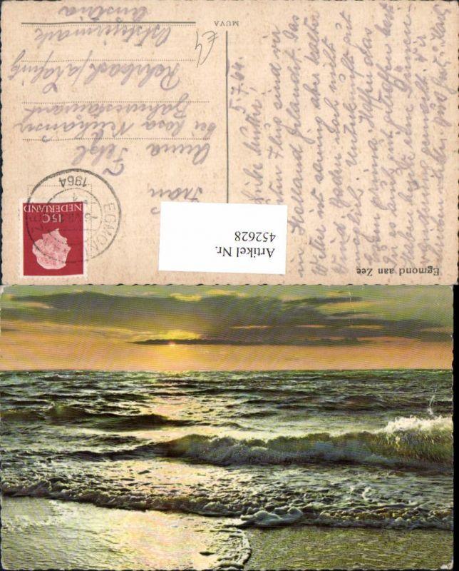 452628,Netherlands Egmond aan Zee Meer Wellen Sonnenuntergang