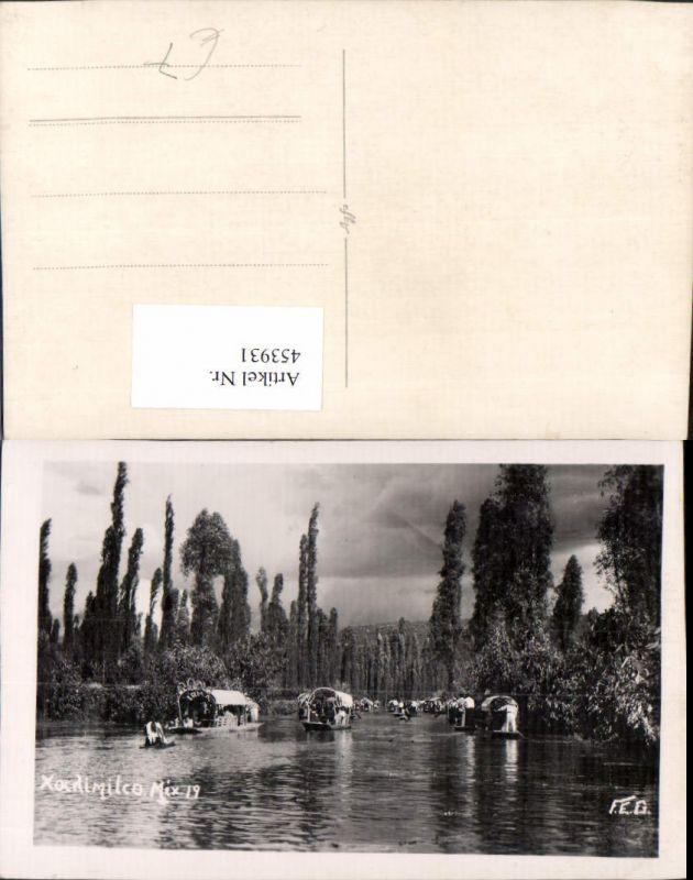 453931,Mexico City Xochimilco Fluss Boote