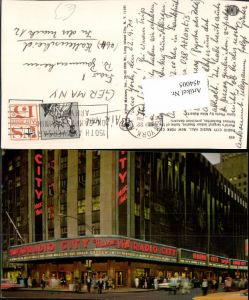454005,New York City Radio City Music Hall Gebäude