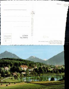 454227,Lanser See m. Hotel geg. Igls Bergkulisse