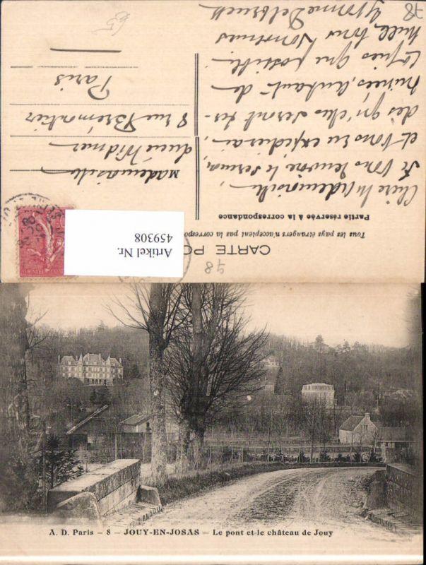 459308,Ile-de-France Yvelines Jouy-en-Josas Le pont et le chateau de Jouy