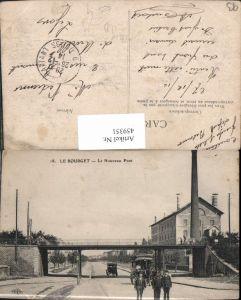 459351,Ile-de-France Seine-Saint-Denis Le Bourget Le Nouveau Pont Brücke Kutsche